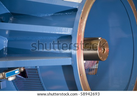 Machinery with shaft ending - stock photo