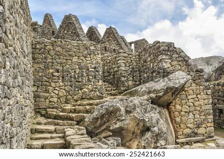 Machu Picchu, Peru - ruins - stock photo