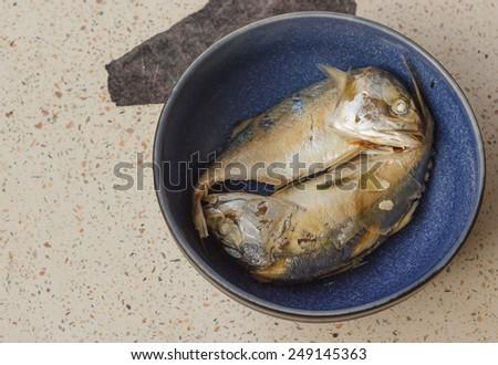 Mackerel food of the Thai people.. - stock photo