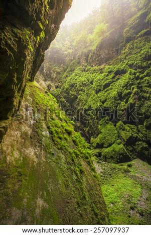 Macocha, Punkevni cave, Blansko, Czech Republic - stock photo