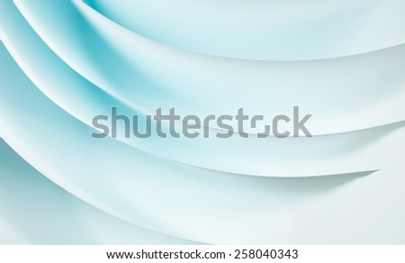 macro abstract image of curved white sheets of paper. toned image - stock photo