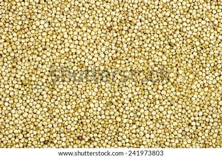 Macro background texture of fresh quinoa - stock photo