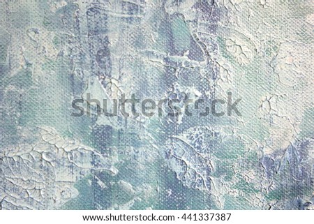 Macro Blue and White Paint Textures 7 - stock photo