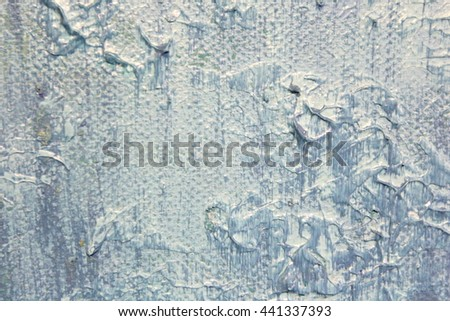 Macro Blue and White Paint Textures 2 - stock photo