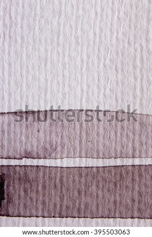 Macro Brown and White Watercolour Lines 5 - stock photo