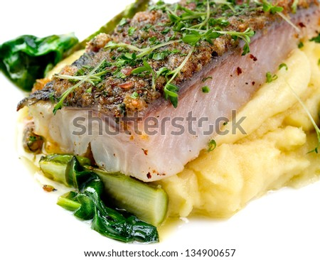 Macro Fillet of Fish - stock photo