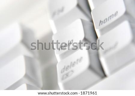 macro image of keyboard help button - stock photo