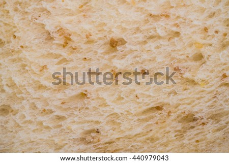 Macro image of Whole Wheat Bread Texture background - inside Bread pattern background     - stock photo