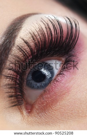 Macro of Beautiful Makeup - stock photo