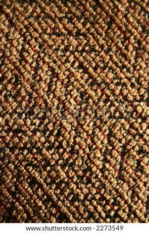 macro of cloth on a couch cushion - stock photo