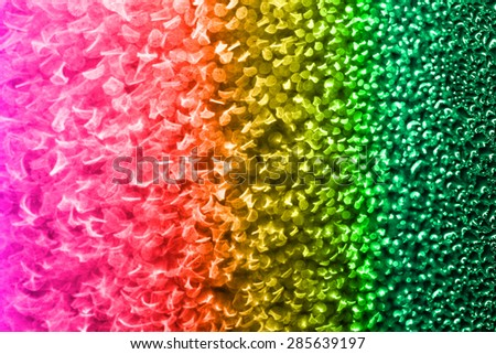 Macro of colorful water vapor in the window - gradient - stock photo