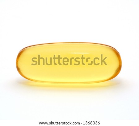 Macro of Gel capsule - stock photo