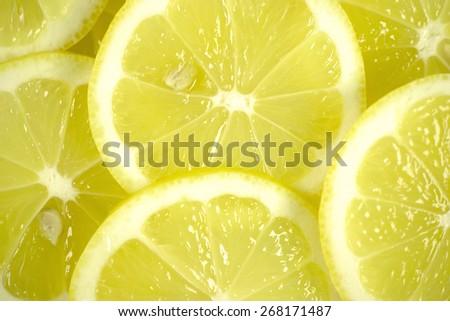 Macro of lemon slices - stock photo