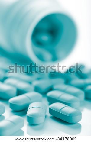 macro of pills - stock photo