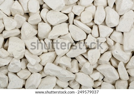 macro of white stones for backgrounds - stock photo