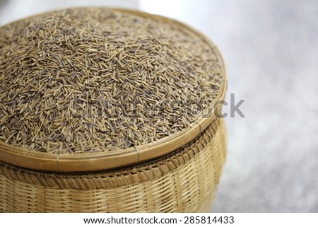 macro organic rice - stock photo