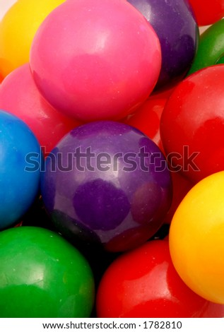 Macro photo of gumballs. - stock photo