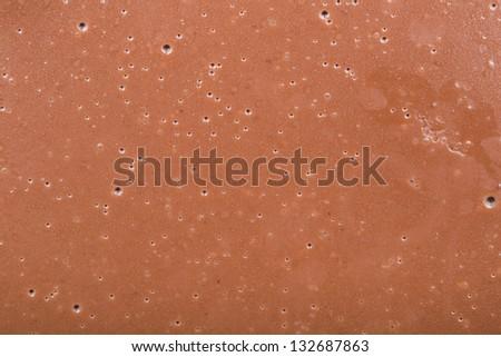 Macro Photo Of Homemade Chocolate Texture - stock photo