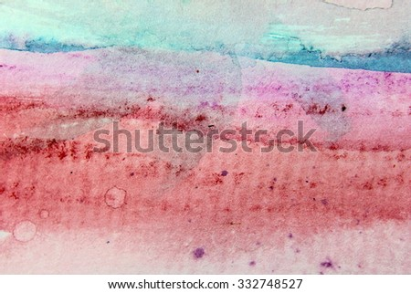 Macro Pink and Blue Watercolor 13 - stock photo