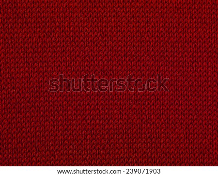 macro red sweater III - stock photo