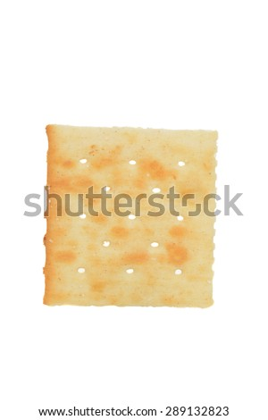 macro salted cracker - stock photo