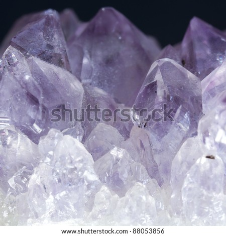 Macro shoot of purple Amethyst crystal See my portfolio for more - stock photo