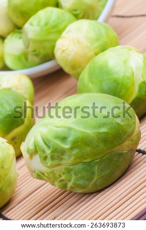 Macro shot of fresh sprouts on the table - stock photo