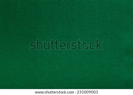 Macro shot of green felt tissue cloth, closeup texture background with details in structure. - stock photo
