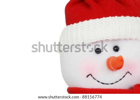 macro snowman face - stock photo