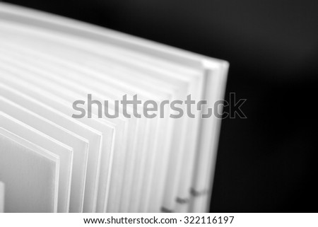 Macro view of a catalog pages  - stock photo