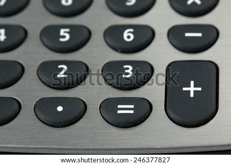 Macro view of calculator board - stock photo