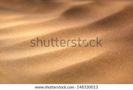 Macro view of sand dunes - stock photo