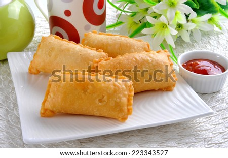 Macroni Samosa-4 - stock photo