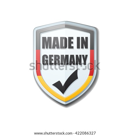 Made in Germany shield sign - stock photo