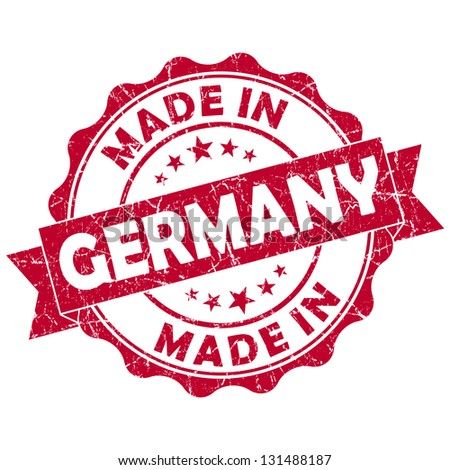 made in germany stamp - stock photo