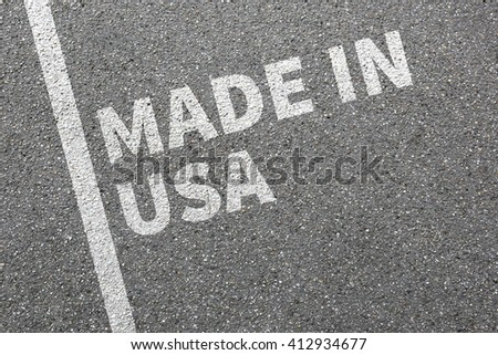Made in USA product quality marketing company concept - stock photo