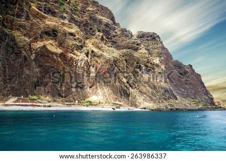 Madeira island beach, Portugal - stock photo