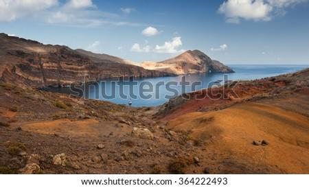 Madeira island, Portugal, Europe, levada Ponta de Sao Lourenco - stock photo