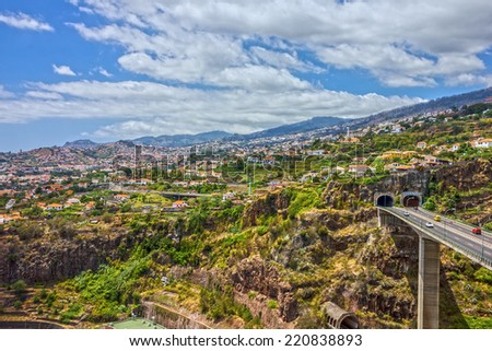 Madeira island, Portugal. Funchal town. - stock photo