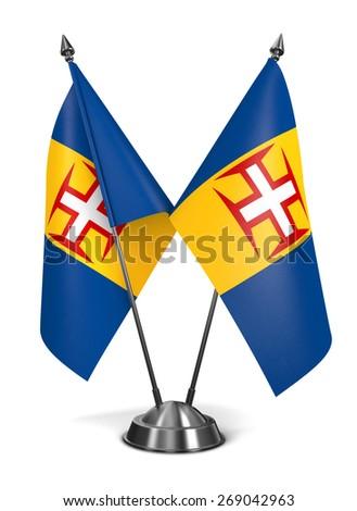 Madeira - Miniature Flags Isolated on White Background. - stock photo