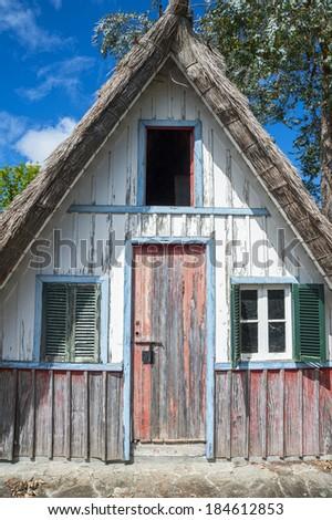 Madeira's typical farmhouse - stock photo
