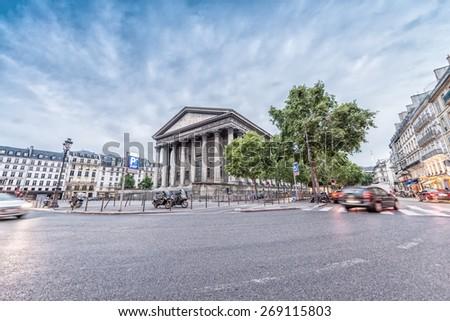 Madeleine Church in Paris. - stock photo