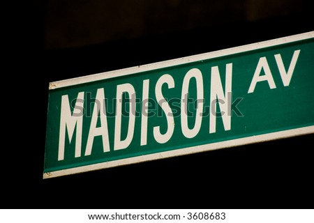 Madison Avenue Street Sign - stock photo
