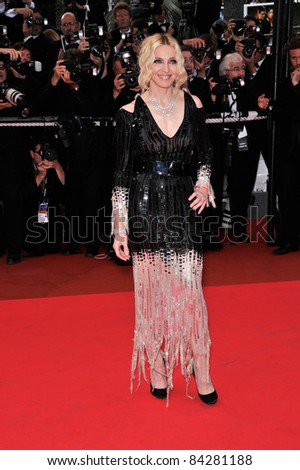 "Madonna at the premiere of ""Che"" at the 61st Annual International Film Festival de Cannes.  May 21, 2008  Cannes, France. Picture: Paul Smith / Featureflash - stock photo"