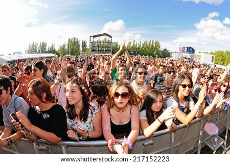 MADRID - SEP 13: Crowd at Dcode Festival on September 13, 2014 in Madrid, Spain. - stock photo