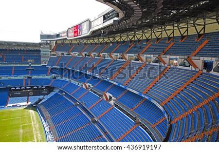 MADRID, SPAIN - JUNE 5: Santiago Bernabeu Stadium of Real Madrid on June 5, 2016 in Madrid. - stock photo