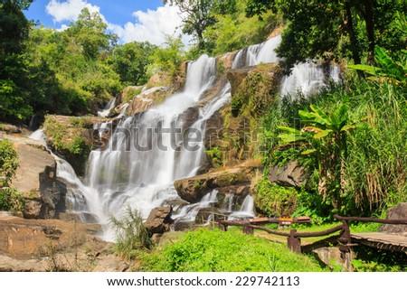 Mae Klang waterfall, Doi Inthanon national park, Chiang Mai, Thailand - stock photo