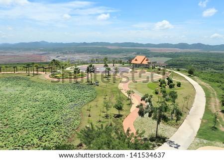 mae moh park,Thailand - stock photo