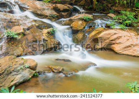 Maesa Noi Waterfall, Thailand. - stock photo
