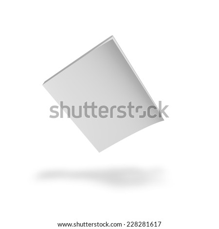 Magazine blank cover, mock up. - stock photo